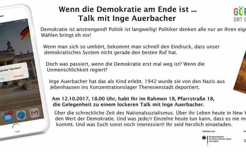 Talk mit Inge Auerbach